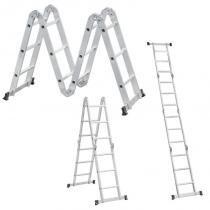 Escada de Alumínio Articulada 4x3 com 12 Degraus 10 Posições VONDER -