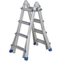 Escada de Alumínio Mor 14 Degraus - Versátil 21 em 1