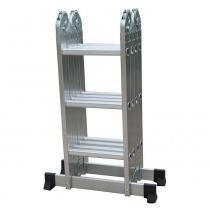 Escada de Alumínio Multifuncional 7 em 1 - 12 Degraus - D178805 - Evolux