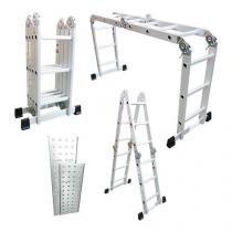 Escada de alumínio multiuso articulada 4x3 com plataforma - TEM4X3 - Tander Profissional