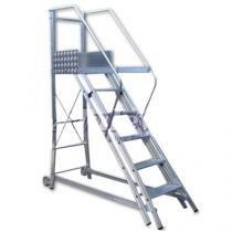 Escada de Alumínio Trepadeira - 10 Degraus + Patamar - TR252 - Alulev