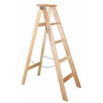 Escada de madeira 7 degraus 1,89 metros tipo tesoura simples - TSM7 - W Bertolo