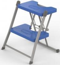 Escada Doméstica Lavanderia de 2 Degraus - Azul Boreal - Anodilar