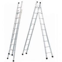 Escada Extensiva  Dupla 8 Degraus Alumínio - Allfort