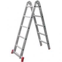 Escada Multifunção De Alumínio 5x2 Com 10 Degraus Botafogo - Chapelaria Botafogo