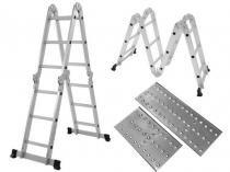 Escada Multifuncional 4x3 com plataforma - 12 degraus MOR -