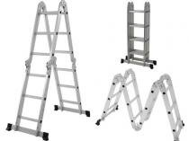 Escada Multifuncional  4x3 Dobrável Alumínio 12 degraus MOR 3,39 m -
