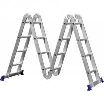 Escada multifuncional 4x4 16 degraus em alumínio mor 005132 - Mor