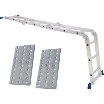 Escada multifuncional de alumínio com plataforma 12 degraus  4 x 3 - Mor