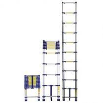 Escada telescópica em alumínio 10 degraus 3,12m suporta até 150kg - mor - Mor