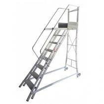 Escada Trepadeira 7 Degraus com 4 Corrimãos - TR202 - Alulev