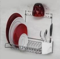 Escorredor de Louça, Pratos - Escorredor de Parede para 10 Pratos Branco - Metaltru