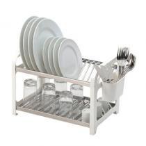 Escorredor de pratos 16 lugares inox branco soltecn - Soltecn