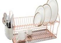 Escorredor de pratos e talheres aço nobre inox França cobre  Meridional -