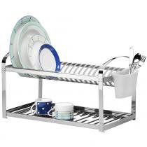 Escorredor de Pratos Inox com Escorredor de Talheres Plástico 2099/120 - Brinox -