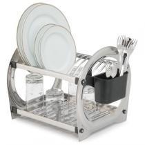 Escorredor para 12 pratos em aço inoxidável Linha Premium. - Soltecn