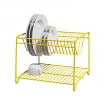 Escorredor vertical para 16 pratos amarelo - Amarelo - Domo house
