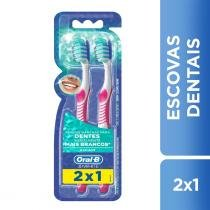 Escova Dental Oral-B 3D White Advantage 2 Unidades - Oral b