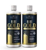 Escova Progressiva Salvatore Blue Gold Sem Formol 2x1 Litro - salvatore