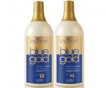 Escova Progressiva Sem Formol Salvatore Blue Gold (2x1litro) -