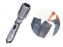 Escova Rotating Air Brush titanium + Lejeans (2 Unidades) - Jeans Preto + Jeans Azul - Conair