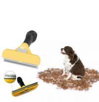 Escova Tira Pelo Fuminadora Para Caes Pet Rosqueadeira Cachorro (BSL-23521-6) - Braslu