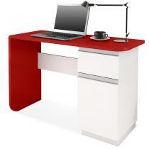 Escrivaninha Click, Branco com Vermelho - Delacasa