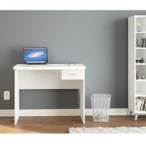 Escrivaninha com 1 gaveta Resende para escritório -Branco - Politorno