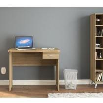 Escrivaninha com 1 gaveta Resende para escritório - Castanho - Politorno