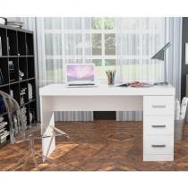 Escrivaninha com 3 Gavetas Laterais Office Plus Appunto - Branco -