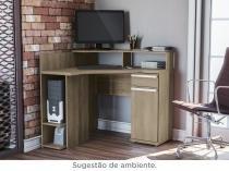 Escrivaninha de Canto para Computador - 1 Porta 1 Gaveta Kappesberg Home Urban S975-NO