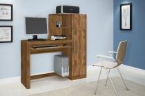 Escrivaninha/Mesa de computador com chave de segurança Aroeira Nobre JCM Movelaria -