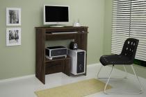 Escrivaninha/Mesa de computador com design compacto Íris Cacau JCM Movelaria -