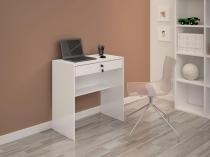 Escrivaninha/Mesa de notebook com design compacto Andorinha Branco JCM Movelaria -
