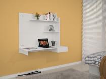 Escrivaninha/Mesa de notebook com design compacto Manu Branco JCM Movelaria -