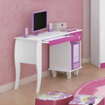 Escrivaninha/Mesa para Computador 1 Gaveta - Pura Magia Barbie Belle