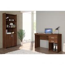 Escrivaninha/Mesa para Computador 2 Gavetas - Estante 2 Portas Politorno Camaçari