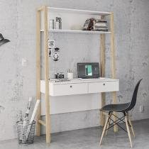 Escrivaninha/Mesa para Computador 2 Gavetas - Politorno Bahamas