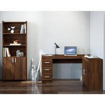 Escrivaninha/Mesa para Computador 2 Portas - 3 Gavetas Estante 2 Portas Politorno Caruarui