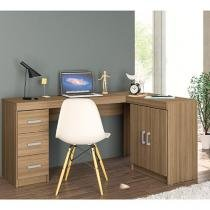 Escrivaninha/Mesa para Computador 2 Portas - 3 Gavetas - Politorno Espanha