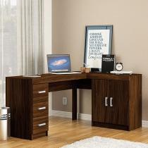 Escrivaninha/Mesa para Computador 2 Portas - 3 Gavetas Politorno Espanha