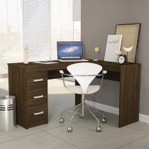 Escrivaninha/Mesa para Computador 3 Gavetas - Politorno Fênix