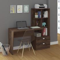 Escrivaninha/Mesa para Computador Com Estante Elisa Café Permobili