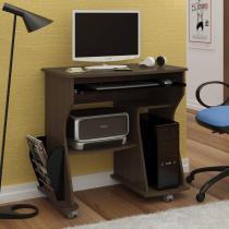 Escrivaninha para Computador com Prateleiras 160 Artely Imbuia - Artely