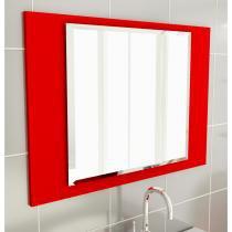 Espelheira 32 Para Banherio 80 cm Vermelho - Tomdo