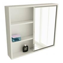 Espelheira de Banheiro 22 Quadrada 60 cm Branco - Tomdo