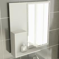 Espelheira de Banheiro 23 Quadrada 60 cm Branco - Tomdo