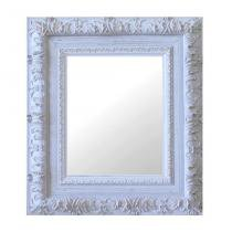 Espelho Moldura Rococó Externo 16272 Branco Patina Art Shop -