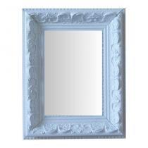 Espelho Moldura Rococó Raso 16137 Branco Art Shop -