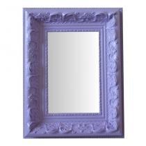 Espelho Moldura Rococó Raso 16239 Lilás Art Shop -